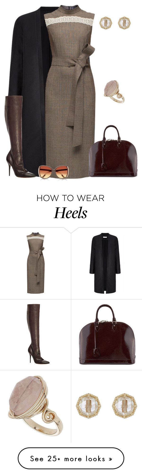 """""""outfit 3024"""" by natalyag on Polyvore featuring Lattori, Max Studio, Louis Vuitton, Grace Lee Designs, Topshop and River Island"""
