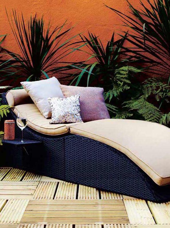 buy marrakech rattan folding sun lounger from our metal garden furniture range at tesco direct