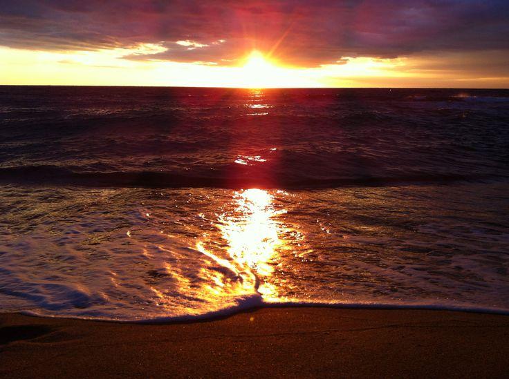 Zonsopgang strand El Delfin Verde Spain