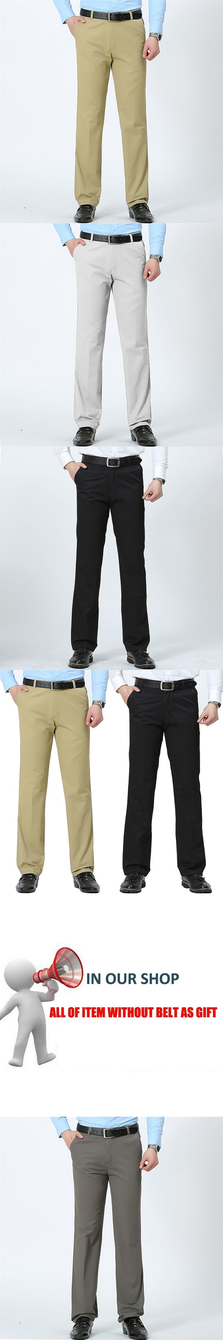 2017 Men Casual Army Pants Brand Big Size Pants Business Straight Trousers Mens Cotton Summer Pants Khaki Pant For Man no belts