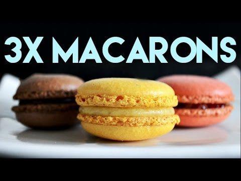 Roger van Damme Desserts - Makarons met amandelcrème en gemarineerde frambozen - YouTube