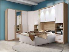 Cologne Overbed Unit Wardrobe Bridge Bedroom Fitment White Gloss Furniture