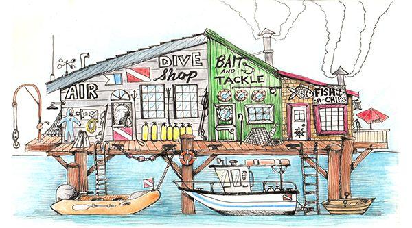 Dive shop on Behance