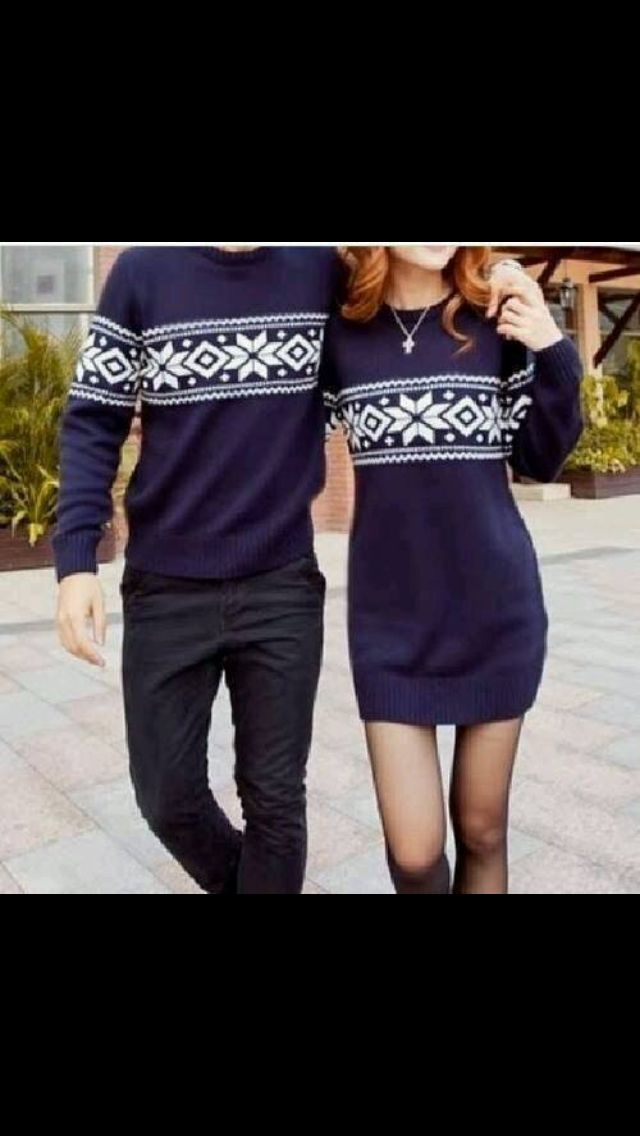 CHRISTMAS COUPLE SWEATER on The Hunt
