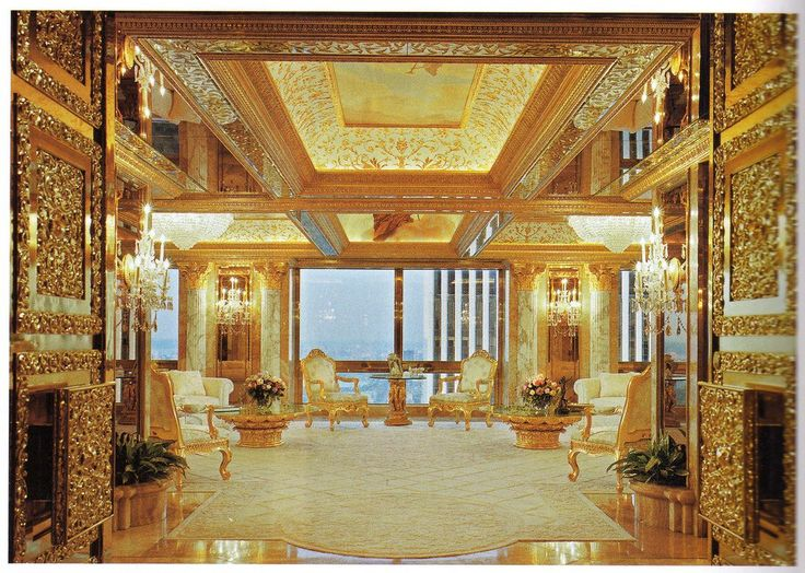 Donald Trump has many properties around the world, but there are just a handful of places he calls home. A few of his most prominent digs include his three-level penthouse in New York that is coated with gold, diamonds and marble.  Trump's Seven Springs summer home has three pools, a bowling alley and more marble.  When he's out west, he can stay at his colonial-style mansion on Rodeo Drive in Beverly Hills that has a tennis court, spa and library.  With the White House a mere 54,900 square…