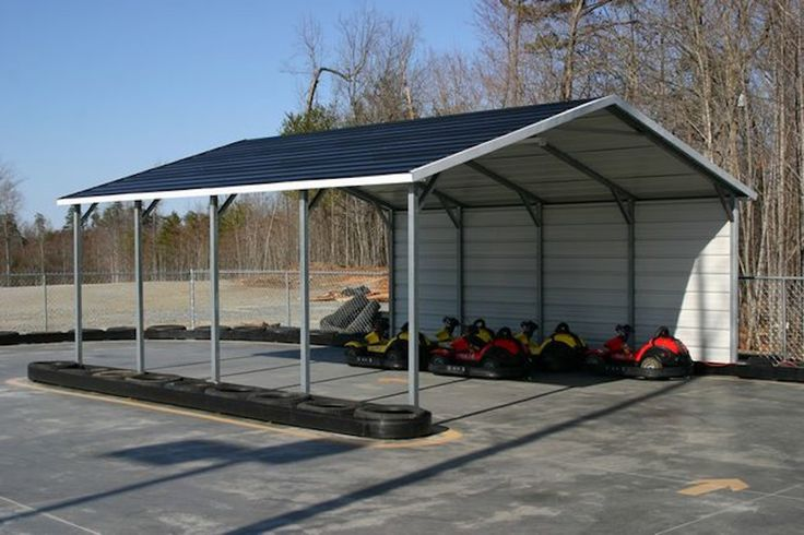 1 side closed in Steel carports, Metal carports