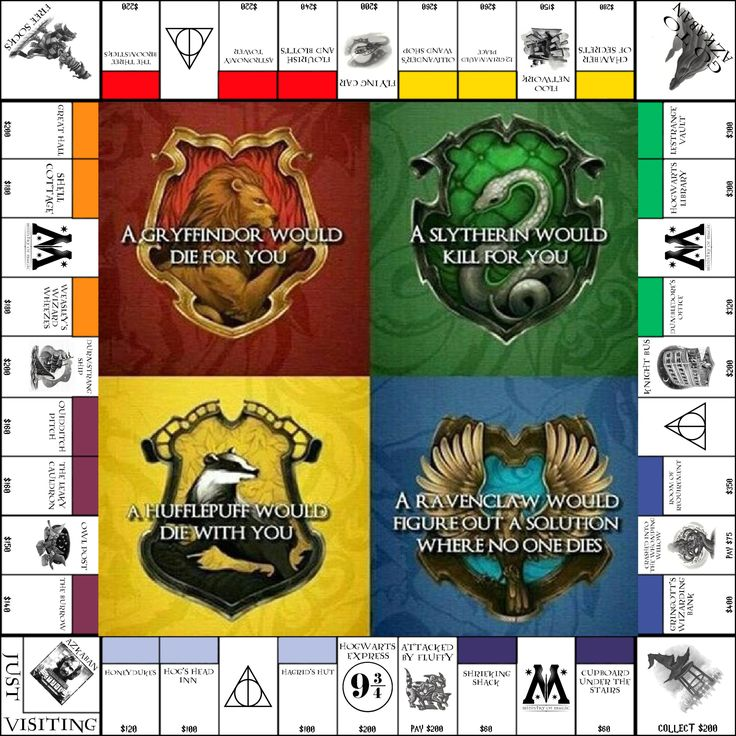 Harry Potter,Monopoly,GryfindorMonopoly Set,Gryffindor,Hufflepuff,Ravenclaw & Slytherine Boards,Harry Potter Games,Harry Potter Accessories by SpryHandcrafted on Etsy