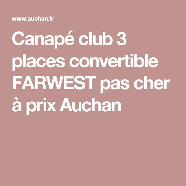 Canapé club 3 places convertible FARWEST pas cher à prix Auchan