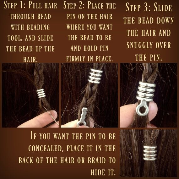 Beading Hair/Beard pins by Dwarvendom