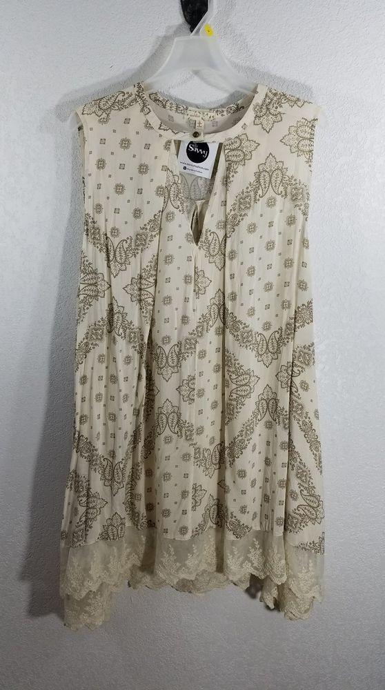 STYLE: SHIFT DRESS, SLEEVELESS, LACE HEM, CHOKER NECKLINE, POCKETS ON EACH SIDE, COOL AND FLOWING. COLOR: CREAM. WISH LIST WOMEN'S DRESS. | eBay!
