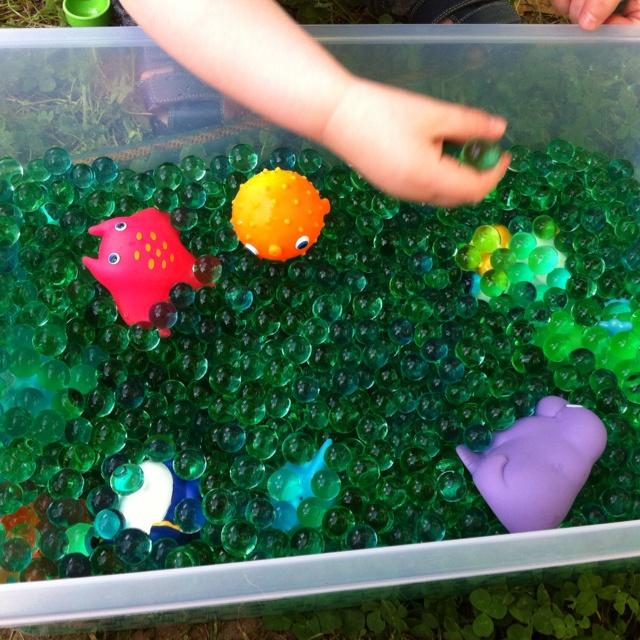 Water beads sensory box: Sensory Boxes, Craft Ideas, Crafty Mummy