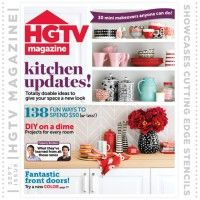 HGTV Revista Vitrinas Stencils Cutting Edge