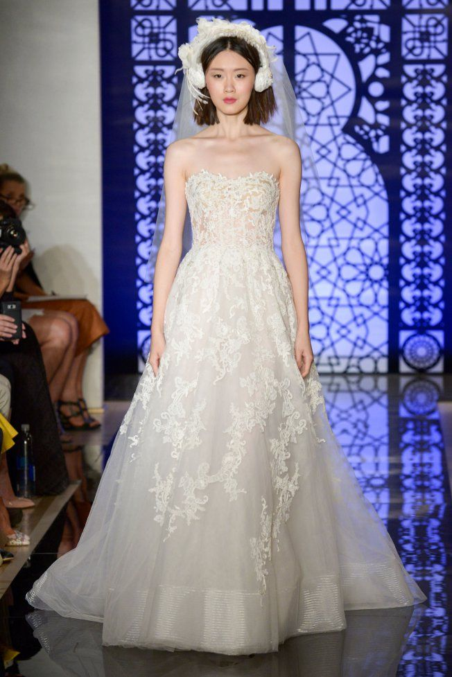 Robe de mariée bustier Reem Acra brd F16 009