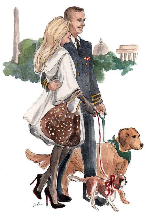 Natal em Washington - Ilustração de Inslee Haynes [The O'Reagan Family] #sketches