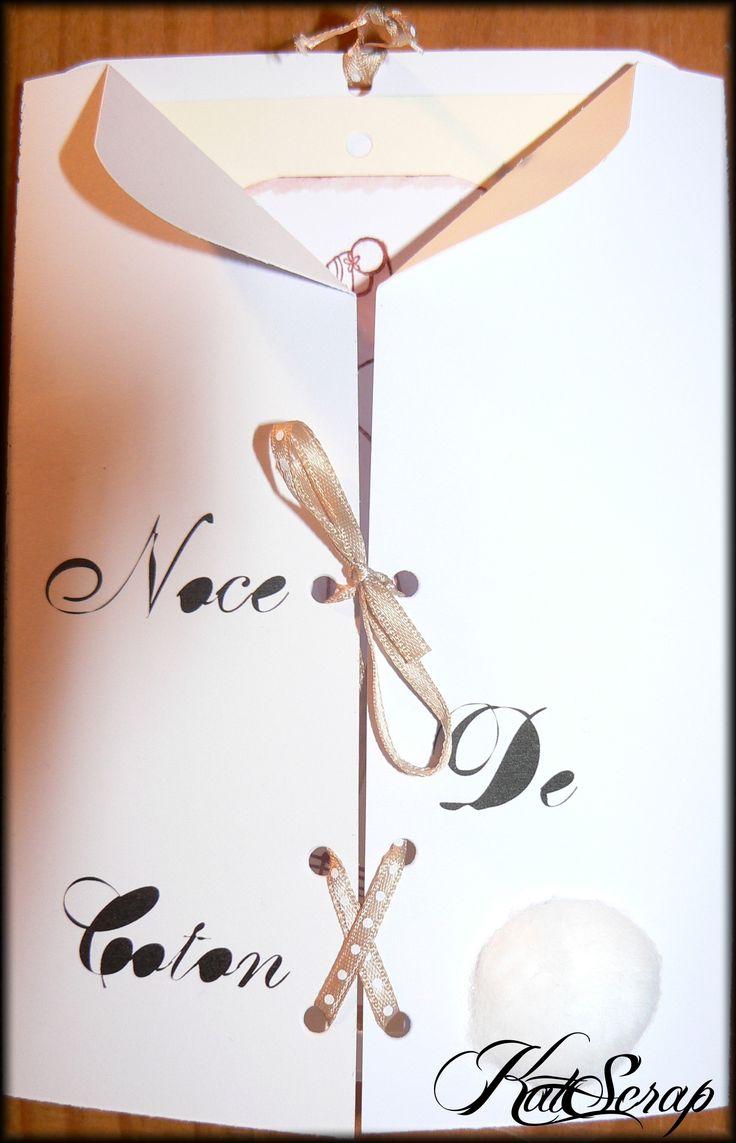 1 an de Mariage :Noces de coton (morceau de coton au dessus de la signature de l'auteur) Année 2008