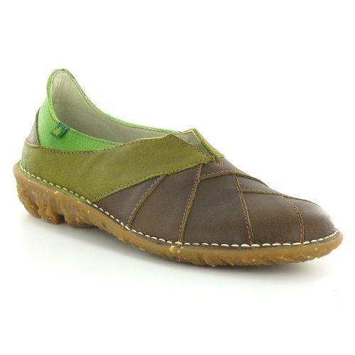 El Naturalista Savia N003 Womens Slip-On Shoe - Prado Brown & Green