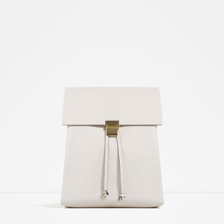 ZARA - TRF - BACKPACK WITH METALLIC FASTENING