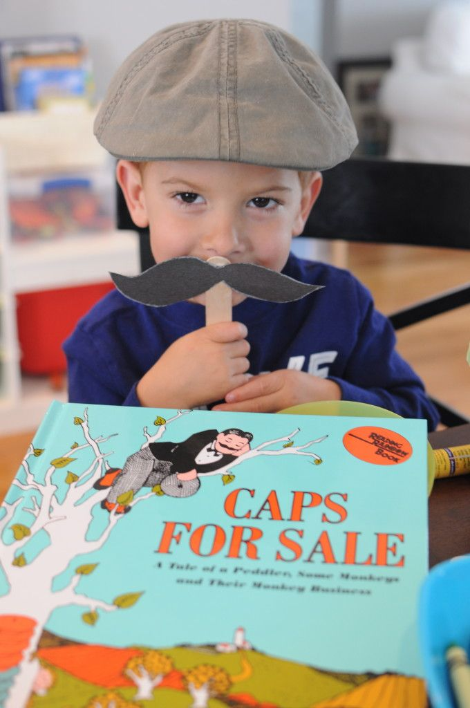caps for sale pile on caps and make moustaches
