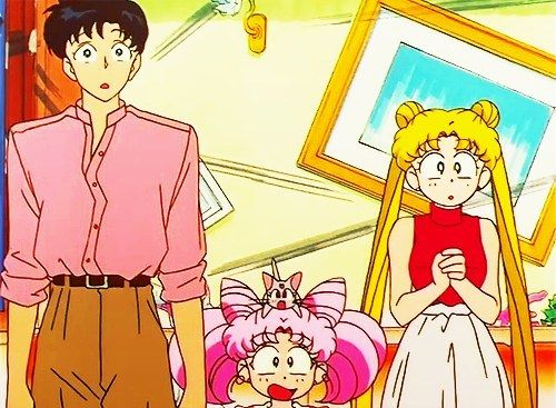 "Crumpled Pink and Brown Ensemble | The Unofficial Ranking Of Mamoru's 10 Worst Fashion Offenses In ""Sailor Moon"" [I kinda liked this one]"