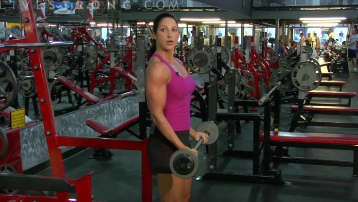 Getting big biceps means doing curls and lifting dumbbell weights. Learn how to do biceps curls to workout the muscles in this weightlifting video.