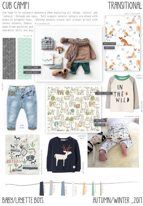 Emily Kiddy: Cub Camp - Autumn/Winter 2016/17 - Baby/Layette Boys Trend: