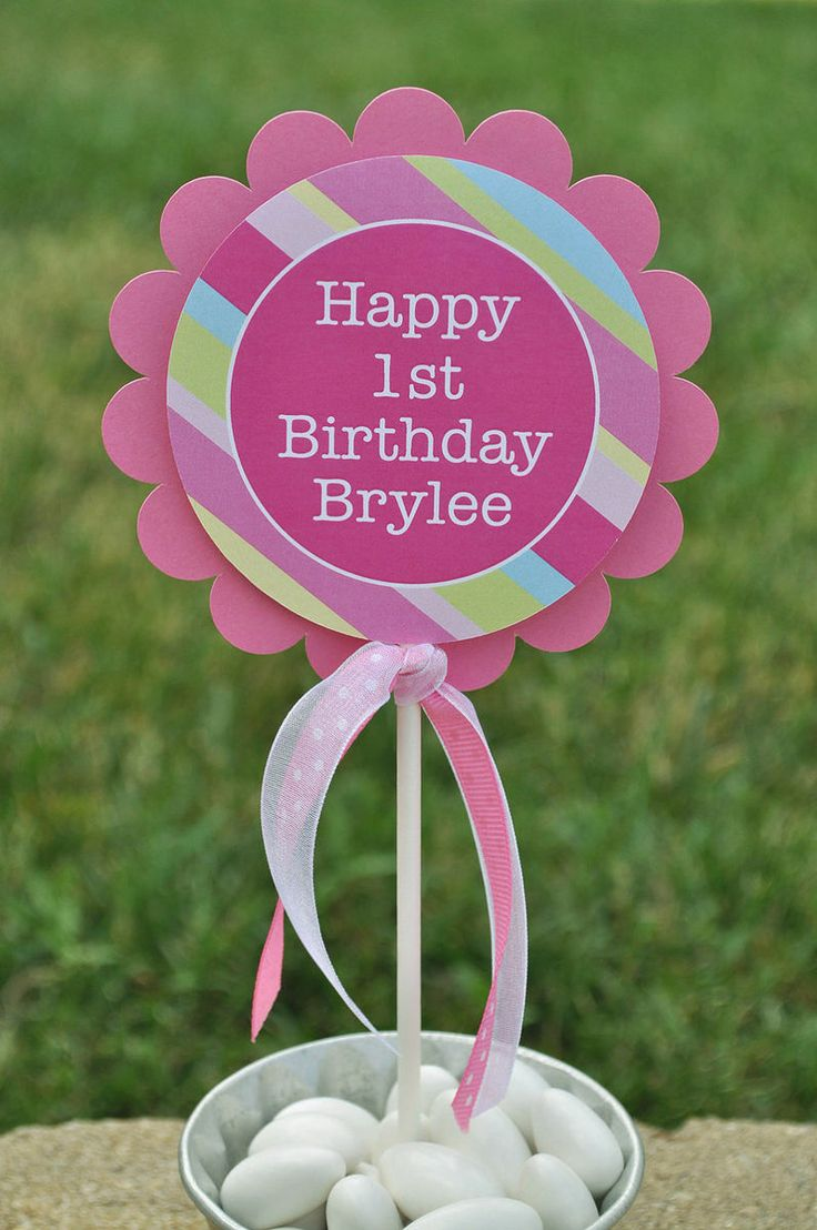 cupcake name toppers for 1st Birthday Girl's 1st
