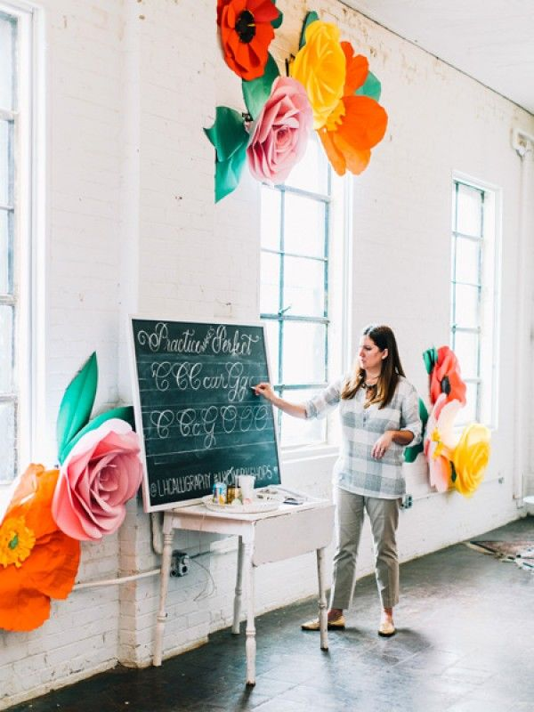 A Stunning Calligraphy Workshop With Laura Hooper | theglitterguide.com