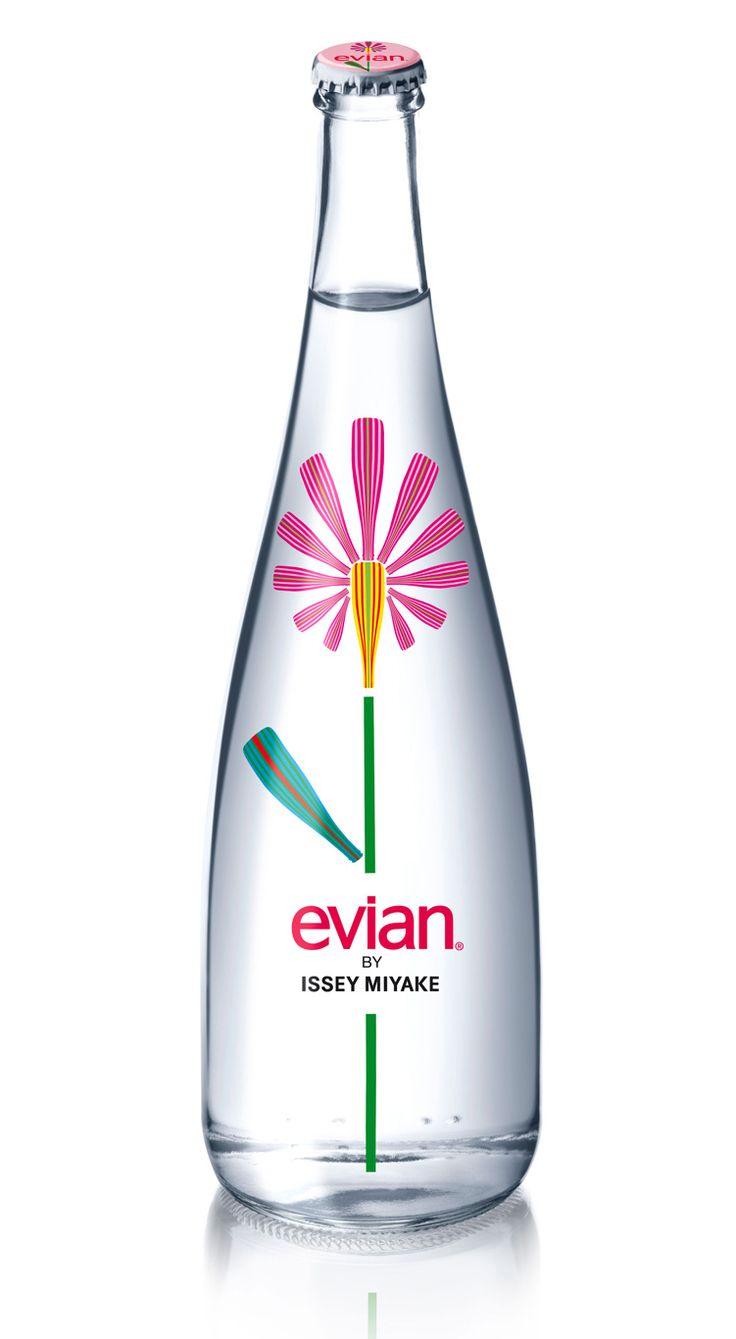 #Bouteille Evian design par Issey Miyake