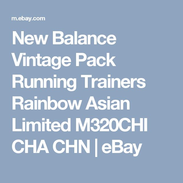 New Balance Vintage Pack Running Trainers Rainbow Asian Limited M320CHI CHA CHN  | eBay