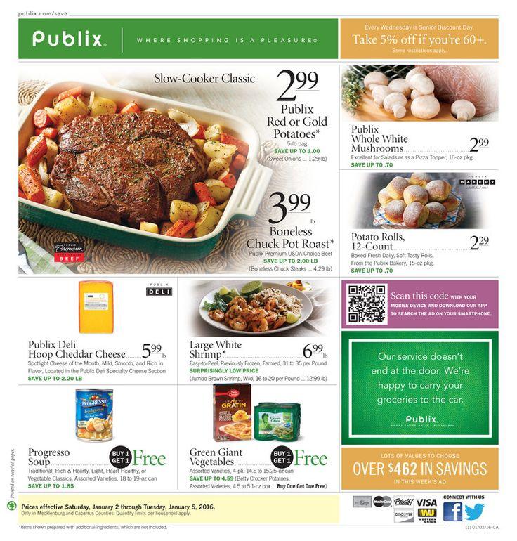 Publix Ad Jan 6 - 12, 2016 - http://www.kaitalog.com/publix-weekly-ad.html