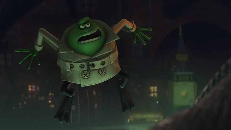 Le Frog is the secondary antagonist of the film Flushed Away. He served as The Toad's mercenary and cousin, and another dreaded enemy of Roddy& Rita. Le Frog is supposedly French and speaks with a French accent. Le Frog was called by Toad to get the master cable back from Rita, in order to proceed his plan in taking over the sewers. He manages to kidnap Rita, only to be thwarted by Roddy.