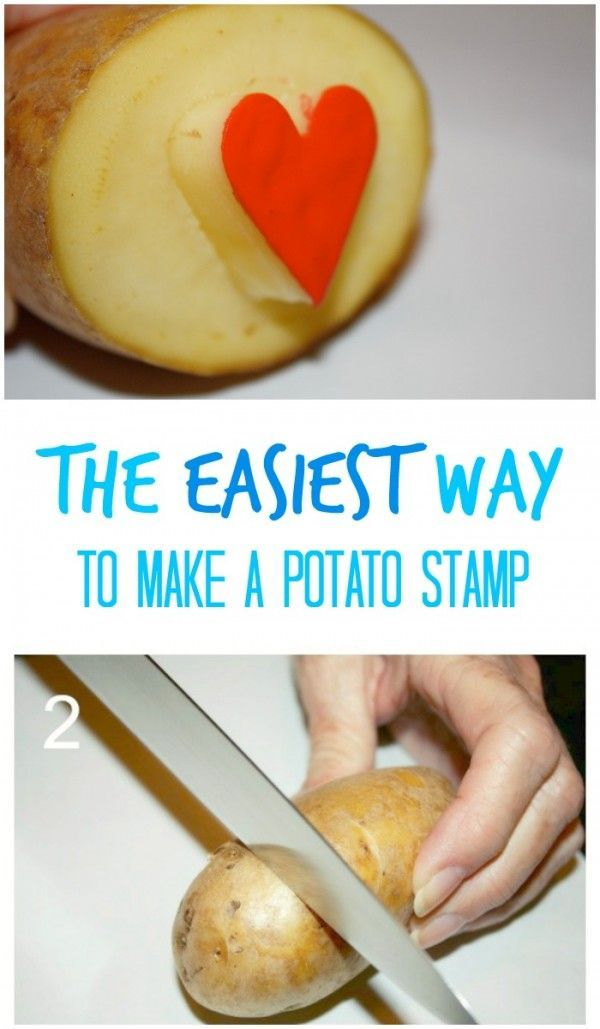 This is without a doubt the easiest way to make a potato stamp - that can be used for all sorts of craft projects!