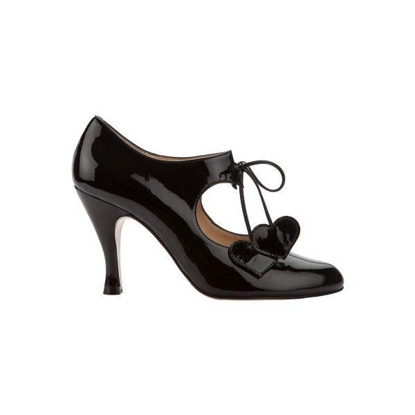RAQUEL BLACK PATENT ($330) ❤ liked on Polyvore featuring shoes, black patent leather shoes, kohl shoes, black high heel shoes, patent shoes and black shoes