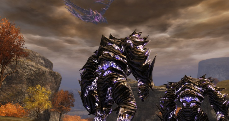 The Shatterer flies overhead as we, his Corrupted Minions spread across the Plains of Ashford. #GuildWars2
