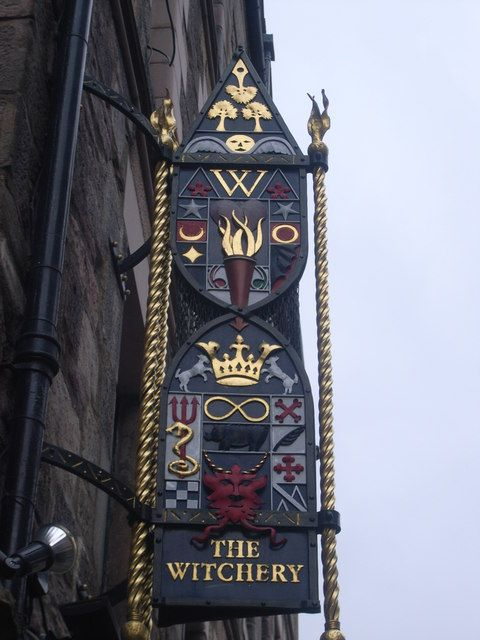 The Witchery pub & restaurant sign