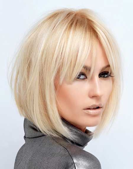 Short Hairstyles with Bangs ❤️ More beauty & fashion styles and inspiration @modellastyle