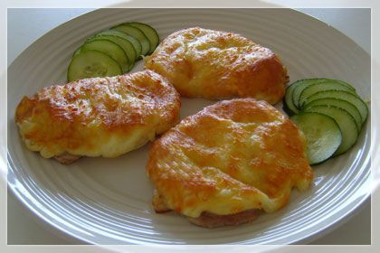 Low Carb: Pork Chops Topped with Onions, Mayo and Cheese 5  Juicy, flavorful pork chops are what you will get with this easy, 4 ingredient recipe. Onion, mayonnaise and cheese make a delicious topping for baked pork chops.