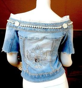 Wearable Art Denim Jackets - military and retro style - Jackets ...