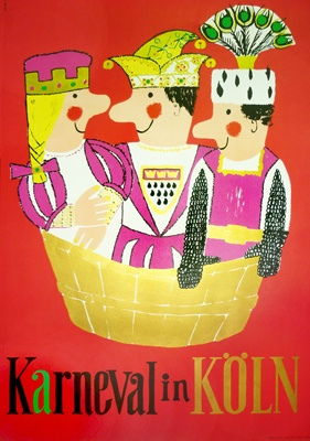a while back they had karneval in koln in a purple and blue range.  i prefer the other poster but no longer available.  $550.