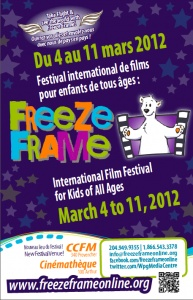 Freeze Frame is Manitoba's Media Arts Centre for Young People. The Centre is a not-for-profit and charitable organization that offers educational and cultural media arts experiences to young people, and holds the International Film Festival for Kids of All Ages each spring.