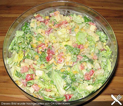 Schichtsalat vegetarisch