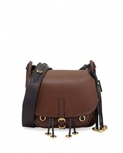 bf4ea7cba3fd PRADA Leather Hunting Shoulder Bag