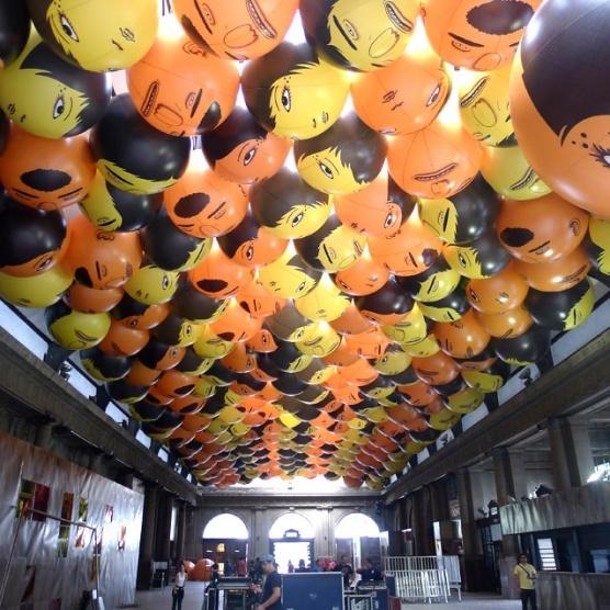 Os Gemeos Balloon Heads for Back2Black Festival in Brazil (2011) #streetart