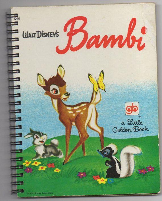 Check out Journal- Bambi-  Handmade from repurposed Little Golden Book on sadiescissorhand