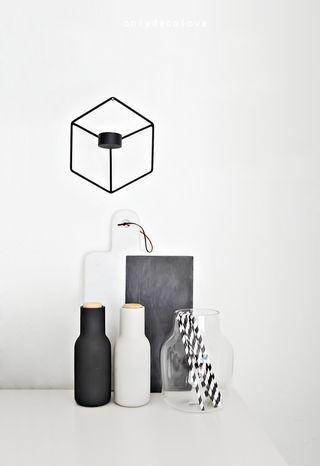 black and white minimal decoration