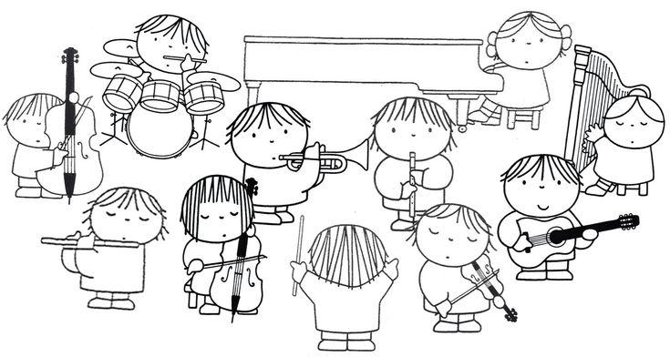 kleurplaat orkest dick bruna
