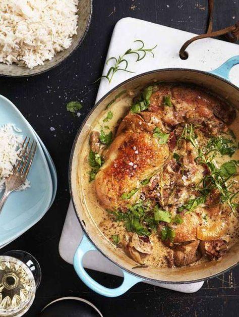 Laga Donal Skehans supergoda kycklinggryta med bacon, vin och grädde!