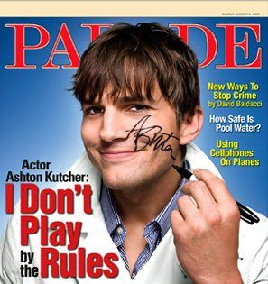 Ashton Kutcher, IMTA Most Sought After Male Model 1997, on the cover of Parade!