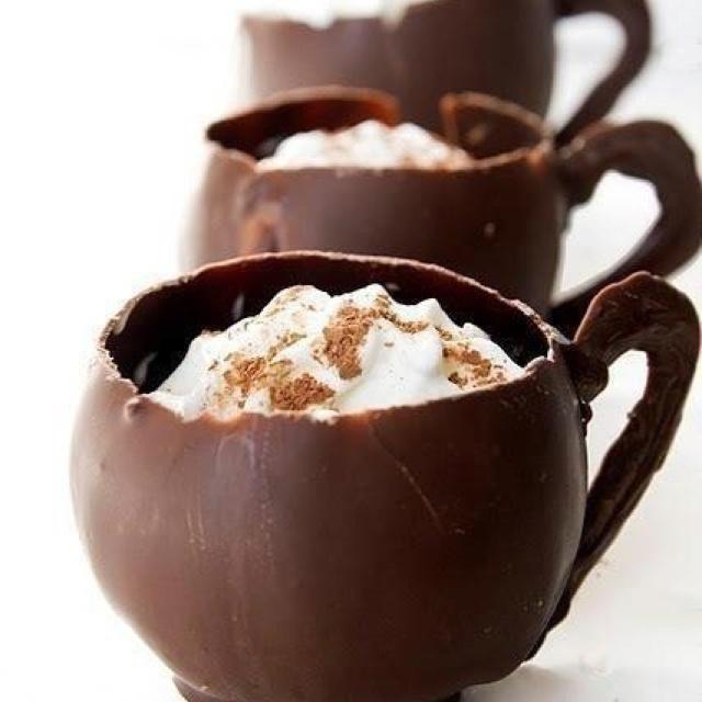 Chocolate cups.   Desserts   Pinterest