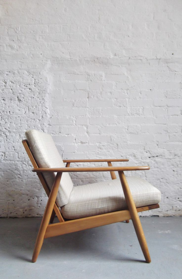 1960s Danish Armchair With White Cushions Www.archivefurniture.co.uk